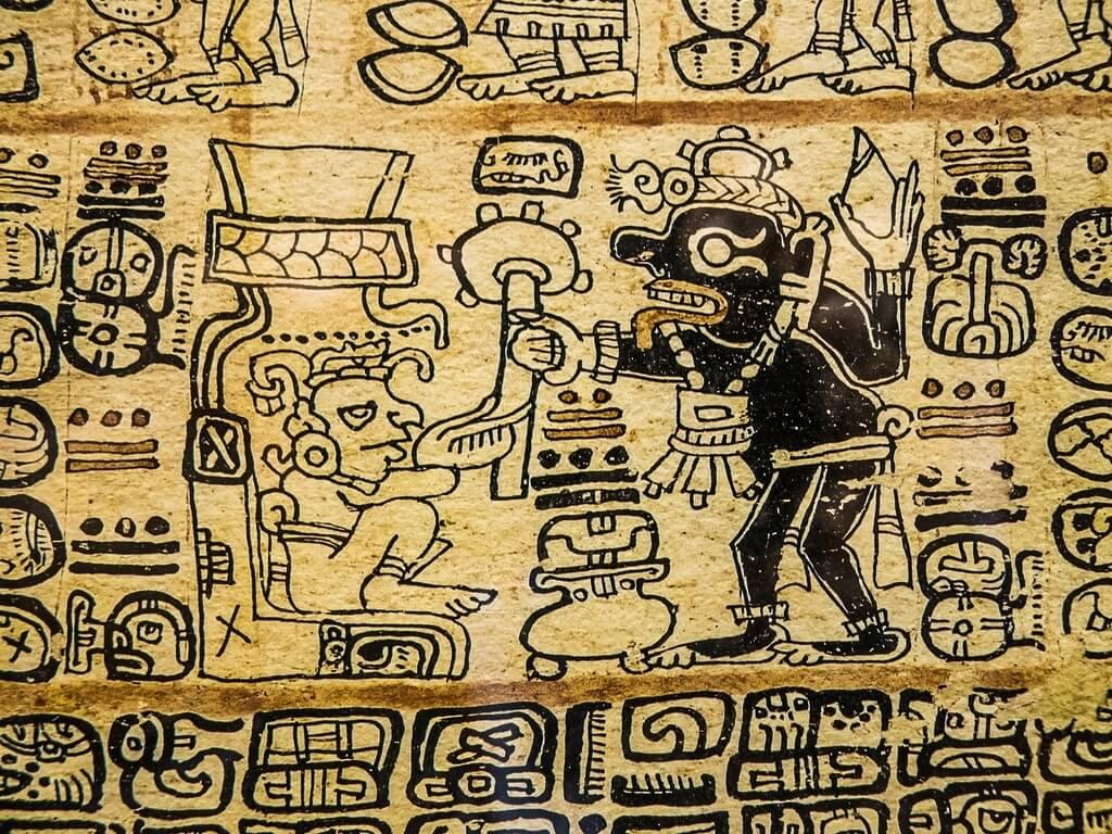マヤの壁画